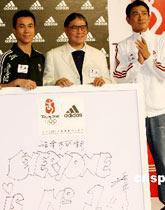 奥运倒计时一周年 霍震霆刘德华为中国运动员加油